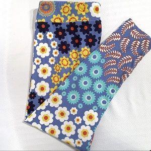 LuLaRoe TC2 Mixed Floral Print Leggings (18-28)